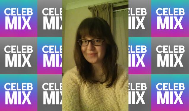 CelebMix logo background with Writer Lynn Macgillivray