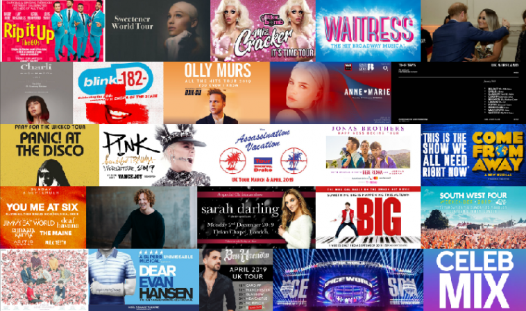 Collage of CelebMix's Top Events of 2019