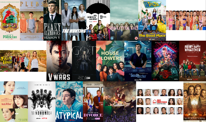 Collage of CelebMix's Top TV Series' of 2019