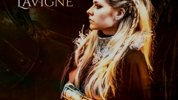 """The single cover artwork of """"We Are Warriors"""" which sees Avril Lavigne looking to the left wearing head armour, neck armour, and arm armour looking fierce and ready for battle."""