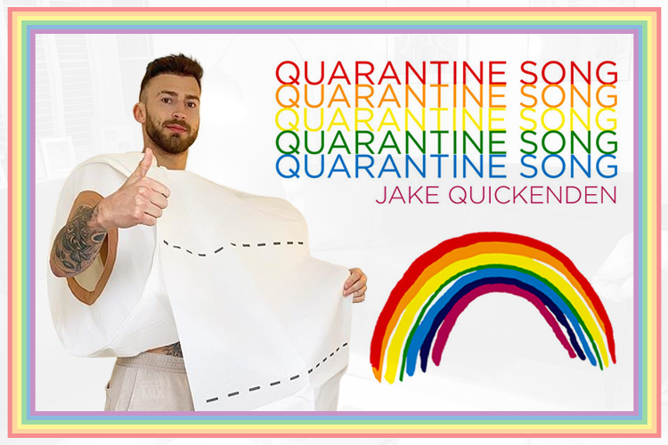 Jake Quickenden releases 'Quarantine Song' to raise money for the NHS