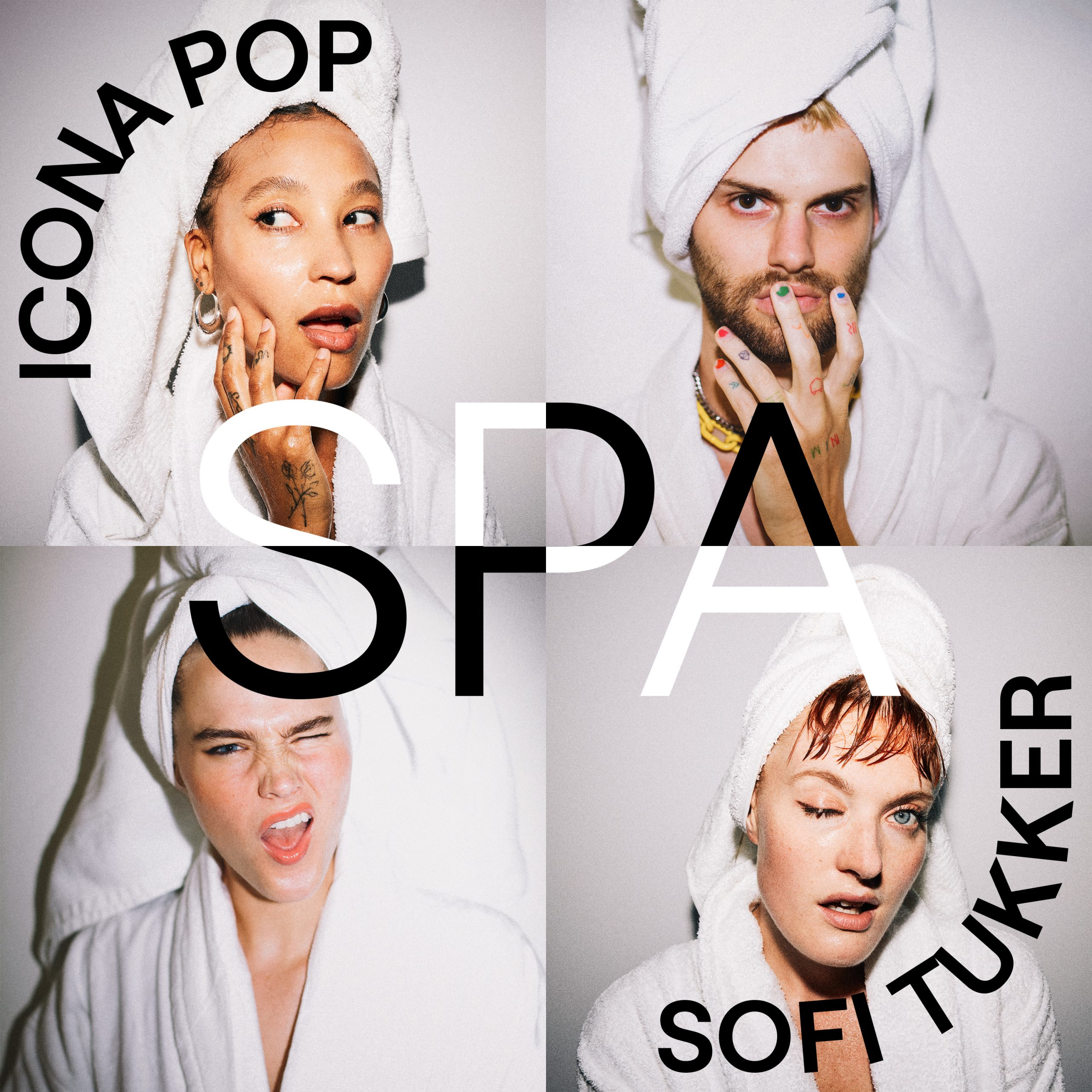 "SOFI TUKKER and Icona Pop - ""Spa"" single artwork"