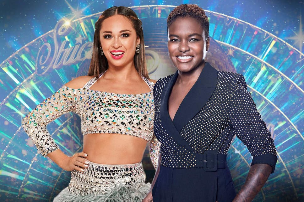 Katya Jones and Nicola Adams as Strictly Come Dancing partners