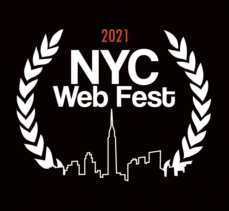 """NYC Web Fest 2021 logo which sees a NYC cityscape line at the bottom and the words """"2021 NYC Web Fest"""" at the top"""